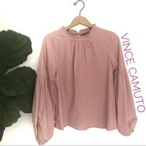 Vince Camuto Millennial Pink Cotton Bubble Sleeve